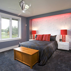 contemporary bedroom by John Kraemer & Sons