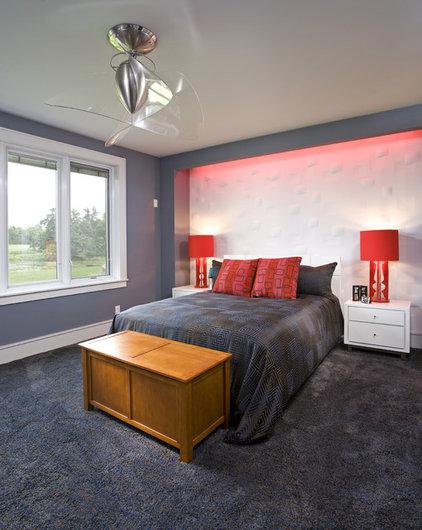 Contemporary Bedroom by John Kraemer & Sons