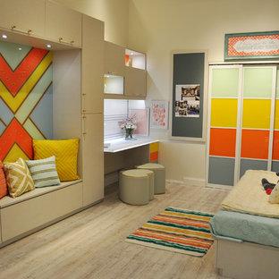 Inspiration for a large eclectic master vinyl floor bedroom remodel in Minneapolis