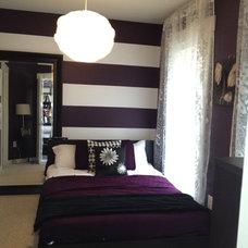 Modern Bedroom by Julie Bissett