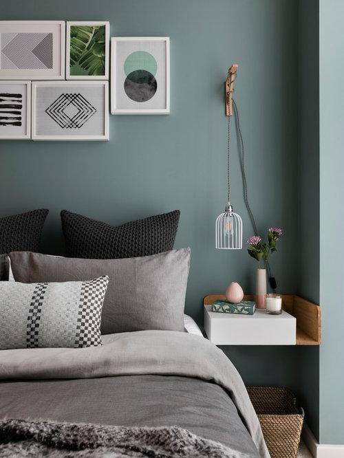 Schlafzimmer Blaue Wände: Schlafzimmer blau farbgestaltung zur ...