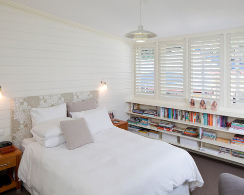 Photo Of A Beach Style Bedroom In Sydney With White Walls. Part 47