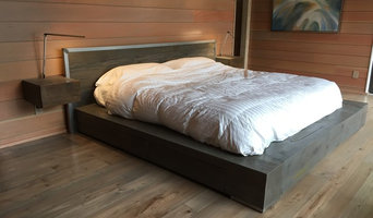 King size Bed Noir with floating night stands