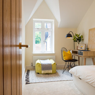 Photo of a modern bedroom in Hertfordshire.