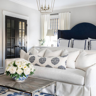 Inspiration for a transitional bedroom remodel in Charlotte