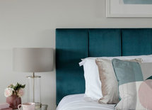 Can i ask where the bed/headboard is from? Love the colour.