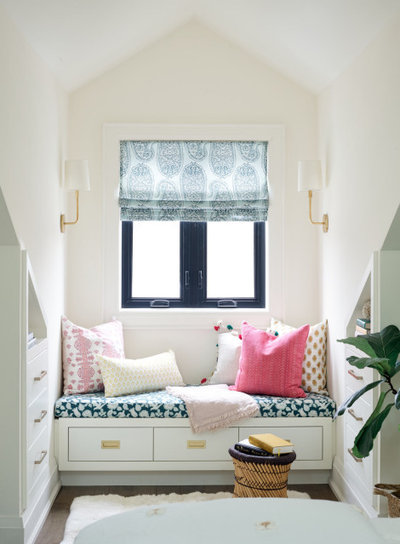 Transitional Bedroom by Emily Griffin Design