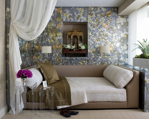 Silver And Gold Bedroom | Houzz