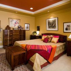 Asian Bedroom by Helga Simmons Interior Design LLC