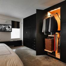 Transitional Bedroom by Kitchen Designs by Ken Kelly, Inc. (CKD, CBD, CR)