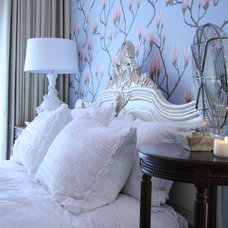 Eclectic Bedroom by Knapp Interiors, Inc.