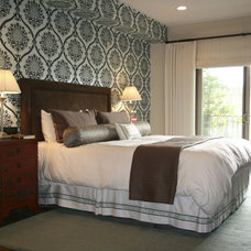 eclectic bedroom by Knapp Interiors, Inc.