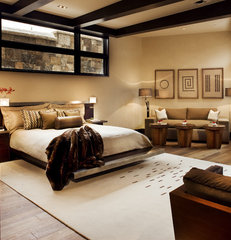 contemporary bedroom by Knudson Interiors