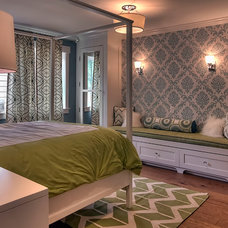 Transitional Bedroom by Tamara Rosenbloom Design LLC