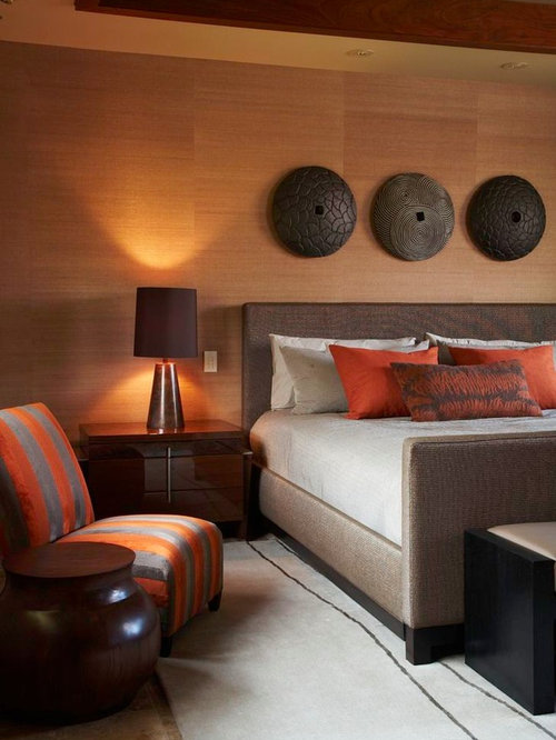 Burnt orange pillow home design ideas pictures remodel for Burnt orange bedroom ideas
