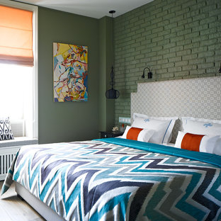 Inspiration for an eclectic bedroom remodel in Moscow
