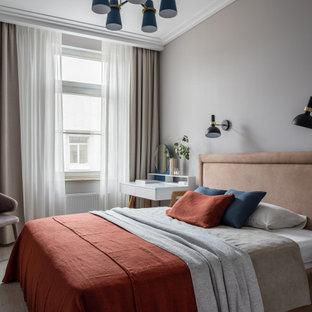На фото: спальня в скандинавском стиле