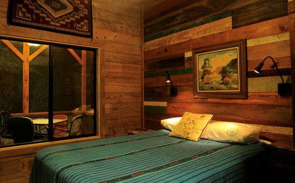 Rustic Bedroom by Reclaimed Space