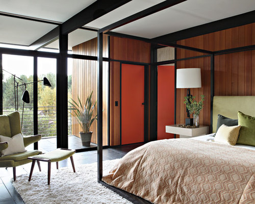 1960s master bedroom idea in los angeles - Retro Bedroom Design