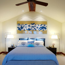 Tropical Bedroom by Island Essence Interiors