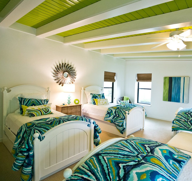 Beach Style Bedroom by Robin Gonzales Interiors