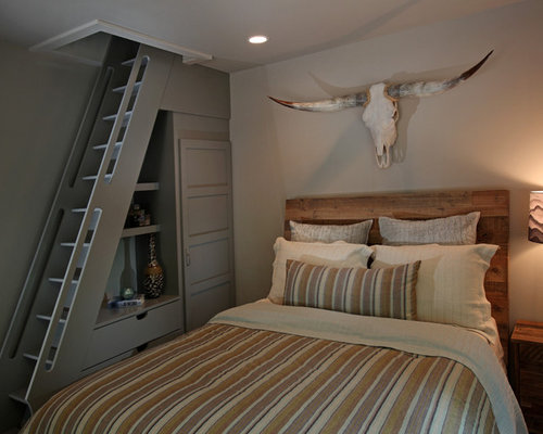 Lake bluff lodge completed - Schlafzimmer rustikal ...