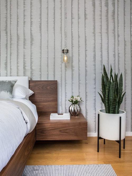 Bedroom   Contemporary Master Medium Tone Wood Floor And Orange Floor Bedroom  Idea In Los Angeles