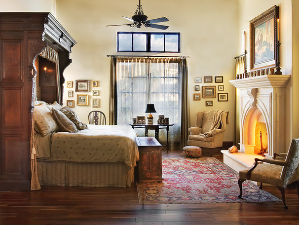 Mediterranean Bedroom by Cornerstone Architects