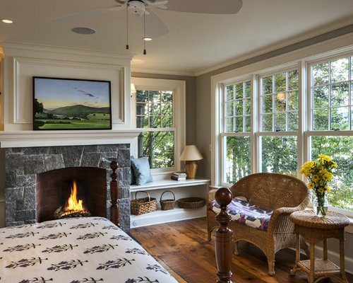 Windows Flanking Fireplace Houzz