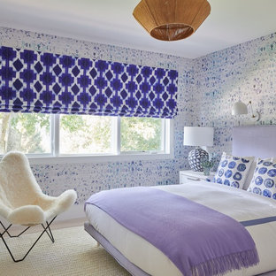 Mid-sized trendy guest bedroom photo in New York