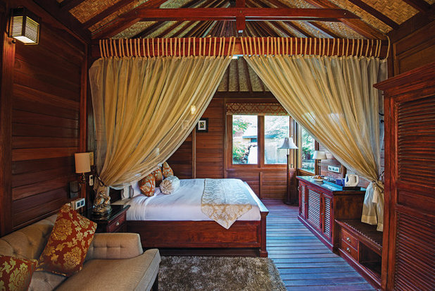 Tropical Bedroom by Prachi Damle Photography