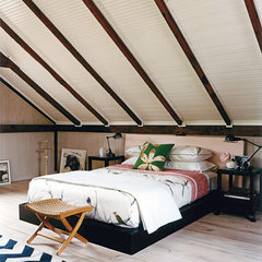 eclectic bedroom by Thom Filicia Inc.