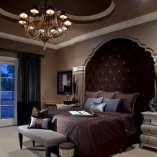 Transitional Bedroom by Roman Interior Design