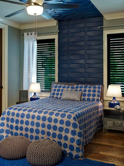 Transitional Bedroom by MRE Creative Services, LLC