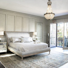 contemporary bedroom by Linda McDougald Design | Postcard from Paris Home