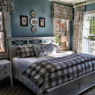 Idéer för ett rustikt sovrum