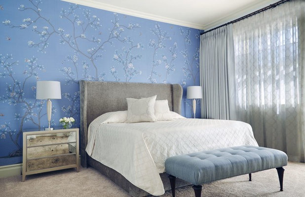 Transitional Bedroom by Julia Wong Designs
