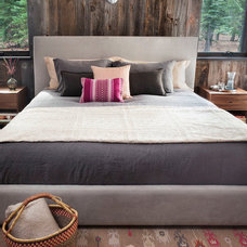 Rustic Bedroom by Chelsea Sachs Design