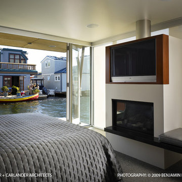 Lake Union Floating Home: Master Bedroom
