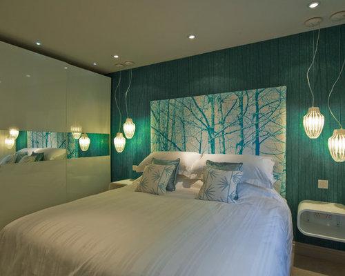 Green North West Bedroom Design Ideas Renovations Photos