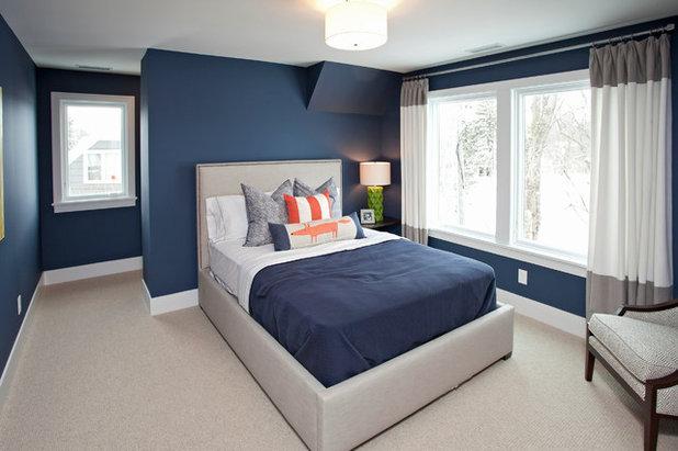 Osez le mur bleu pour une chambre rafra chissante - Chambre blanche et bleu ...