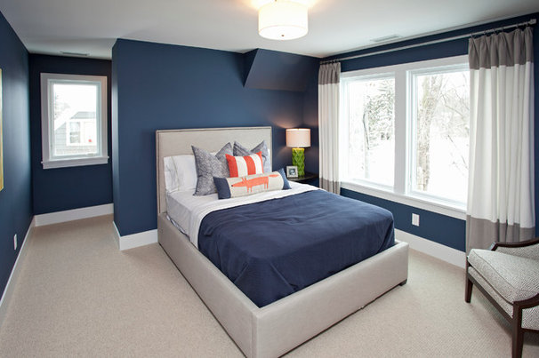 Transitional Bedroom by REFINED LLC