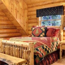 Rustic Bedroom by Interiors on Fox Farm Road