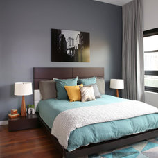 Contemporary Bedroom by workroom couture home