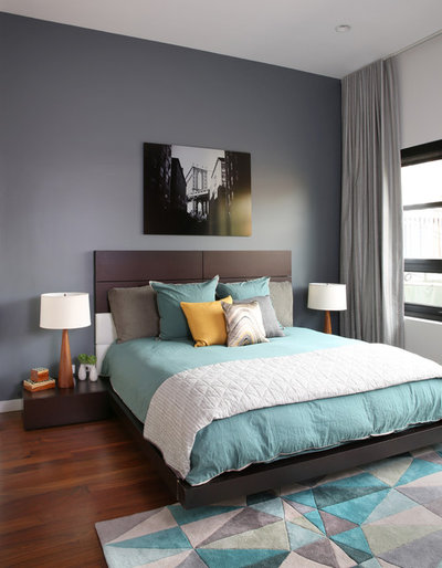 Good Contemporary Bedroom by Workroom Couture Home