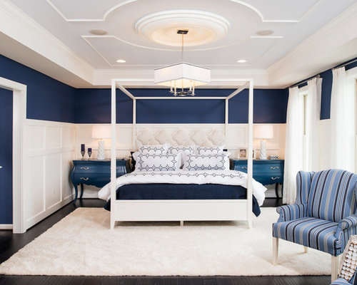 Best Blue Bedroom With Multi Coloured Walls Design Ideas