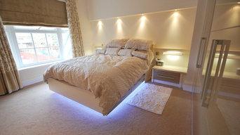 Langley Interiors Case Study : Cream High Gloss Master Bedroom