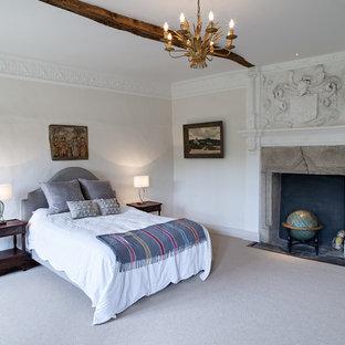 Elegant bedroom photo in London