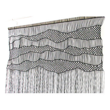 Large macrame wall hanging ''mountains and hills''