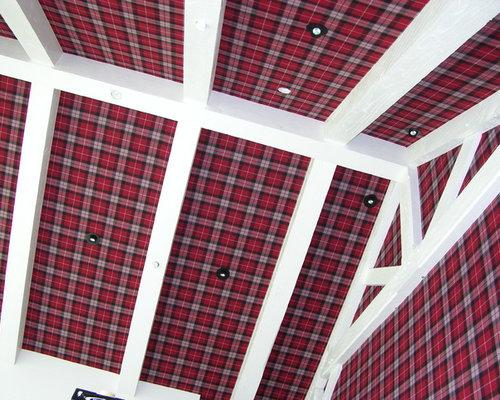 Salt Lamps Limerick : Tartan Bedroom Design Ideas, Renovations & Photos with Red Walls